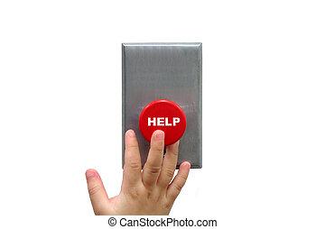 llamada, para, botón de la ayuda