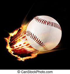 llameante, beisball
