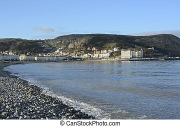 Llandudno, Wales, on a cold winters day