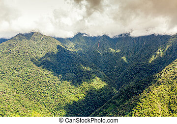 Llanganates National Park In Ecuador Aerial Shot