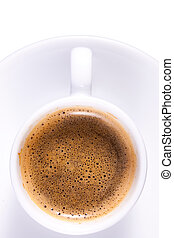 llanura, café, expresso, taza blanca