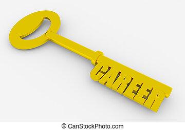llave, a, exitoso, carrera