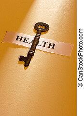 llave, a, salud