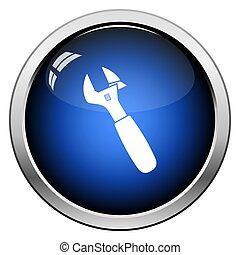 llave ajustable, icono