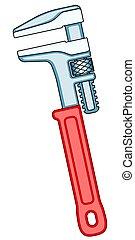 llave ajustable, ilustración