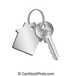 llave, alquiler, verdadero, anillo, compra, engañar, propiedad, venta, concepto, casa, propiedad