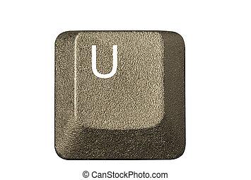 llave computadora, en, un, teclado, con, carta, número, y, símbolos