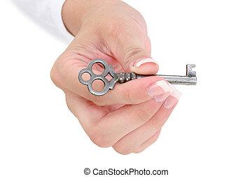 llave maestra, mano