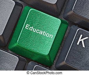 llave, para, educación