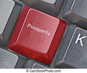 llave, para, prosperidad