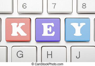 llave, teclado