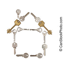 llaves, casa, hecho
