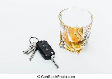 llaves, coche,  Alcohol