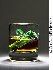 llaves, coche,  Alcohol, vidrio