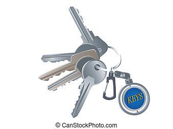 llaves, encanto, conjunto, vario