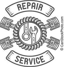 llaves inglesas, reparación, pistons., service.