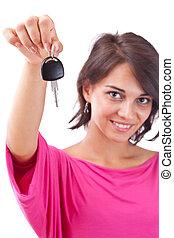 llaves, mujer coche, tenencia