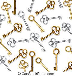 llaves, patrón, viejo
