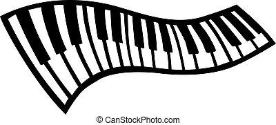 llaves, piano, balanceo