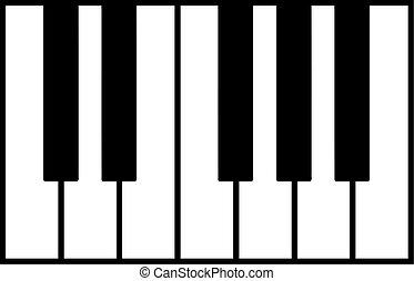 Piano Conjunto Teclados Vistas Teclados Vector Vario