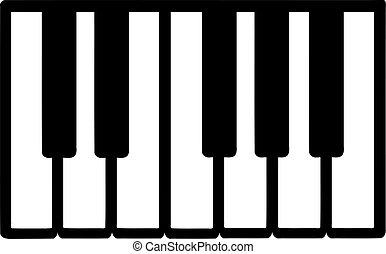 llaves, piano, icono