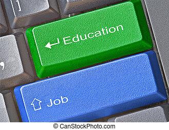 llaves, trabajo, educación