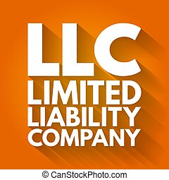 LLC - Limited Liability Company acronym, business concept background