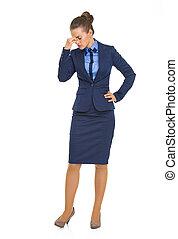 lleno, empresa / negocio, longitud, retrato de mujer, ...