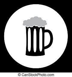 lleno, eps10, alcohol, bebida, vidrio, cerveza