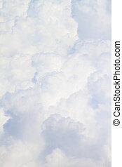 lleno, nubes, velloso, arriba, plano de fondo, cierre, blanco, tamaño