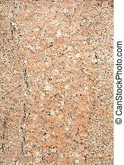lleno, pulido, marco, superficie, beige, roca, granito