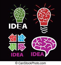 llogo idea. brain on a black background
