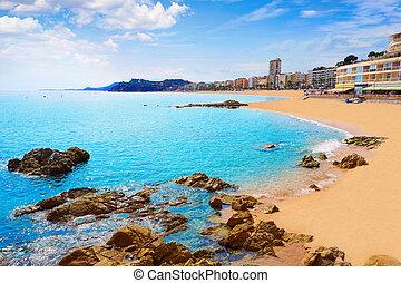 Lloret de Mar beach in costa Brava of Catalonia
