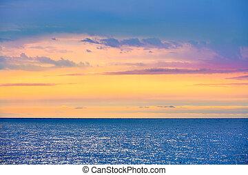 Lloret de Mar beach sunrise in costa Brava