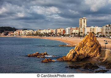 Lloret de Mar on Costa Brava in Spain
