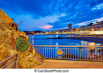 Lloret de Mar sunset at Costa Brava Catalonia - Lloret de ...