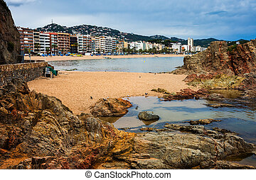 Lloret de Mar Town on Costa Brava in Spain