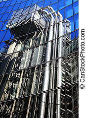 Lloyd Building Reflection - Mirrored reflection of the...