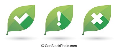 leaf icon set with survey signs