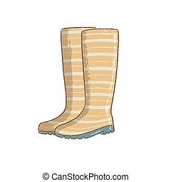 lluvia, aislado, tiempo, jardinería, verde, ilustración, ...