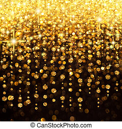 lluvia, luces de navidad, plano de fondo, fiesta, o