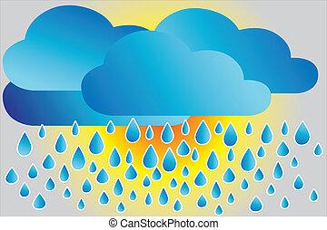 lluvioso, icono