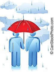 lluvioso, protección, día