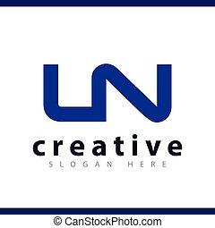 LN initial letter logo vector template