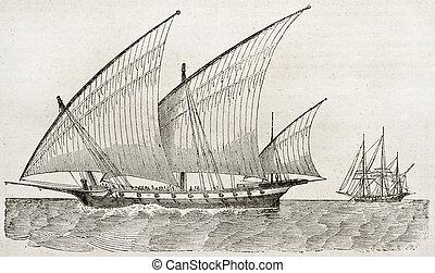 loď, dávný