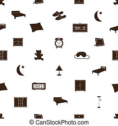 ložnice, ikona, pattenr, eps10