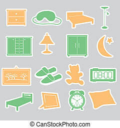 ložnice, prasečkář, dát, eps10