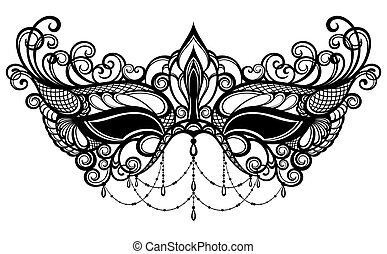lo18.eps - Carnival mask Venetian carnival.