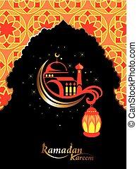 lo65.eps - Islamic design mosque door for greeting...
