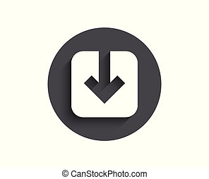 Load document simple icon. Download arrowhead.
